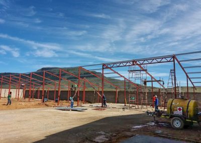 Steel Structure being built